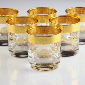Gold Decorated Sibel Water Glass Set