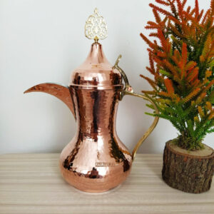 Large Copper Hammared Copper Dallah