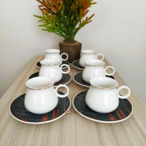 Bond Porcelain Black Turkish Coffee Set