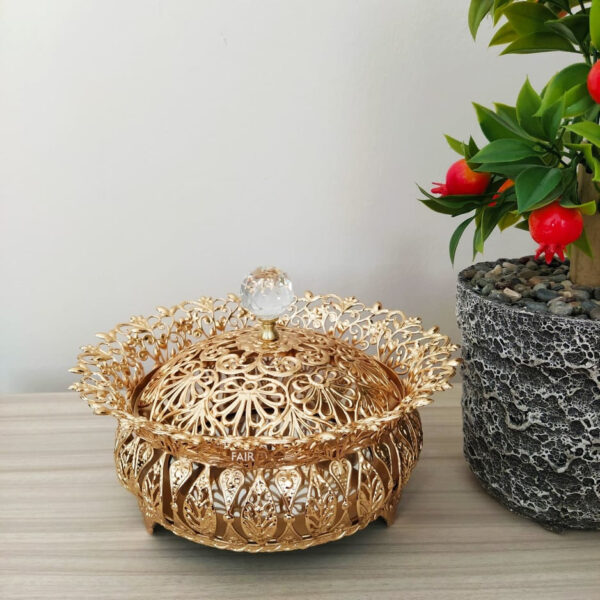 Ivy Desing Gold Color Mirror Snack Bowl