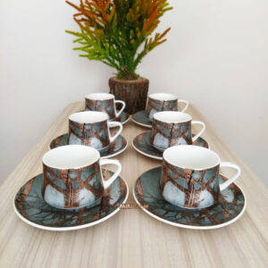 Liva Porcelain Turkish Coffee Set
