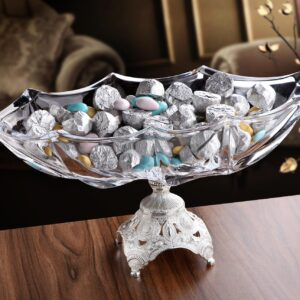 X-Large Silver Color Crystall Glass Chocolate Bowl