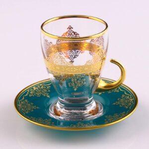Turquoisse DreamTurkish Tea Set With Saucers 12pcs