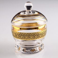 Pak Gold Color Round Sugar Bowl