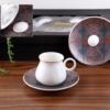 Mona Porcelain Black Turkish Coffee Set