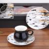 Ela Porcelain Black Turkish Coffee Set