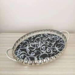 VaV Desing Silver Color Oval Serving Tray