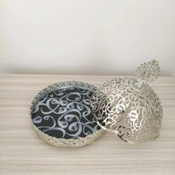VaV Design Silver Color Arabic Snack Bowl