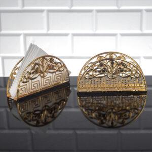 Gold Color Metal Napkin Holder