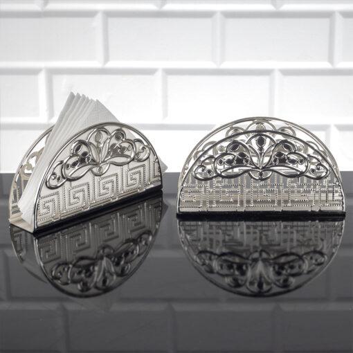 Silver Color Metal Napkin Holder