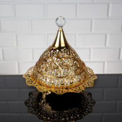 Roza Ottoman Gold Color Mirror Snack Bowl