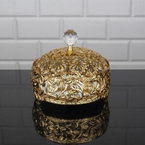 Roza Gold Color Mirror Snack Bowl