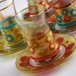 12 Pcs Rose And Flowers Tea Set