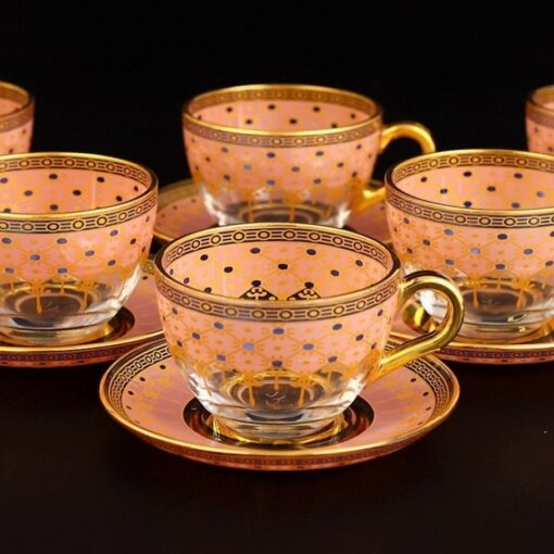 Giray Pink Color Large Coffee Mugs-Tea Glasses
