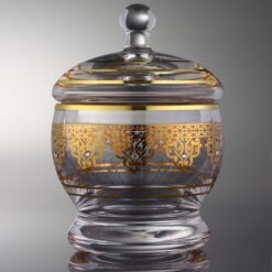 Ottoman Gold Color Round Sugar Bowl