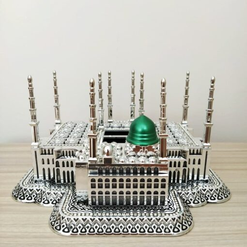 Silver Color Masjid Nabawi Design Islamic Table Decor