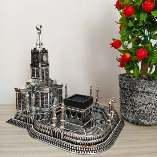 Silver Color Masjid Al HaramDesign 3D Islamic Table Decor