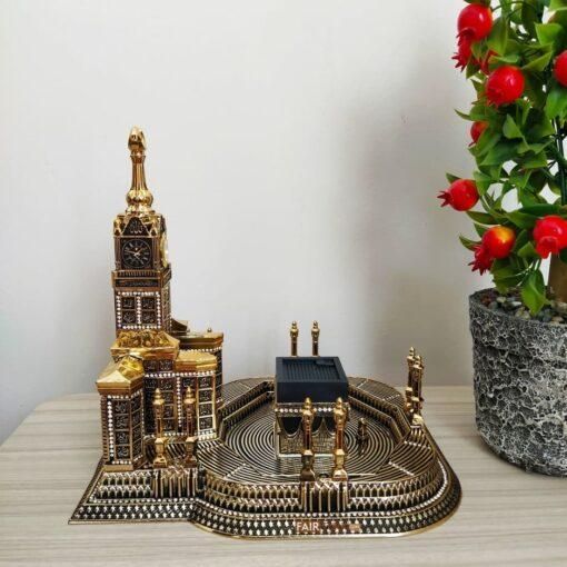 Gold Color Masjid Al HaramDesign 3D Islamic Table Decor
