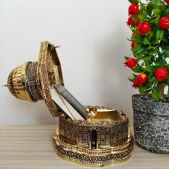 Gold Color 3D Kubbet'üs-Sahra Quran Gift Box