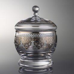 Ottoman Silver Color Round Sugar Bowl